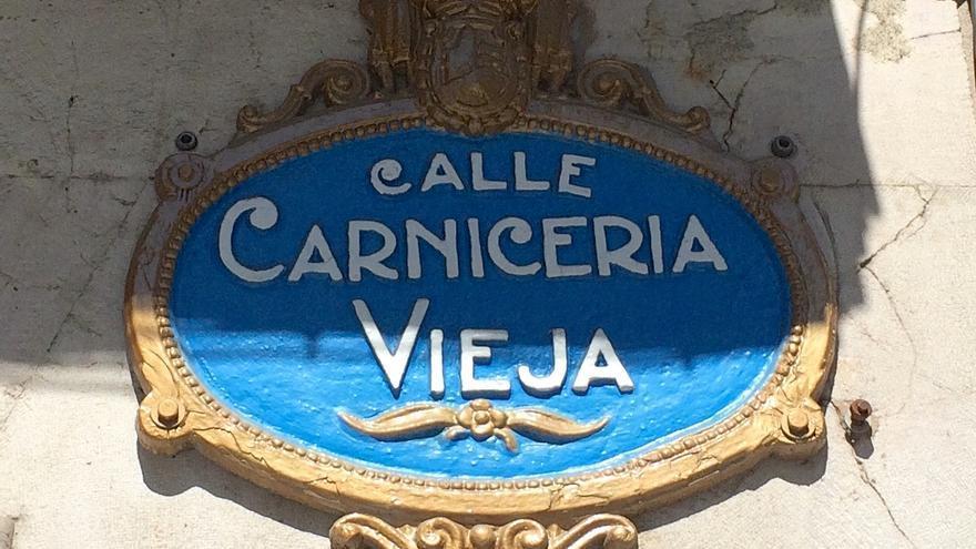 La calle Carnicería Vieja, en el casco antiguo de Bilbao