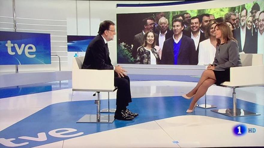 Mariano Rajoy en la entrevista con Ana Blanco en TVE.