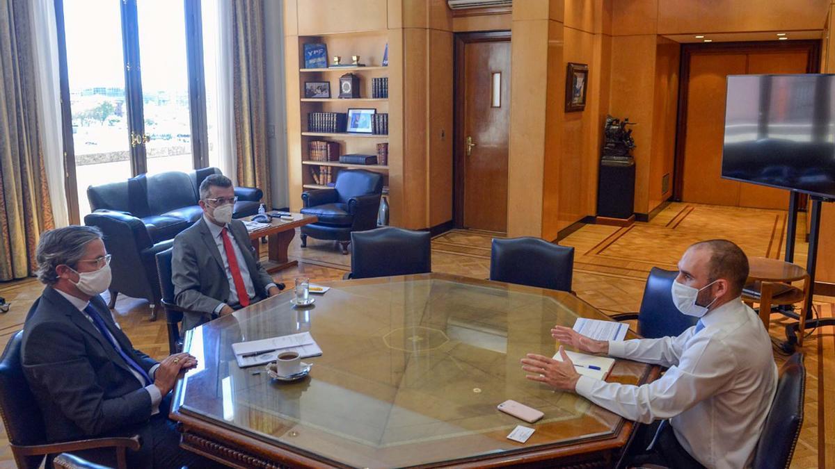Guzmán recibió el 5 de febrero al embajador de Alemania en la Argentina, Ulrich Sante