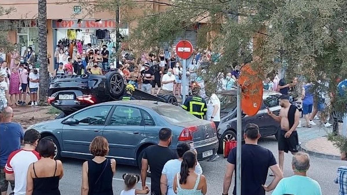 Imagen del accidente subida a las redes sociales.