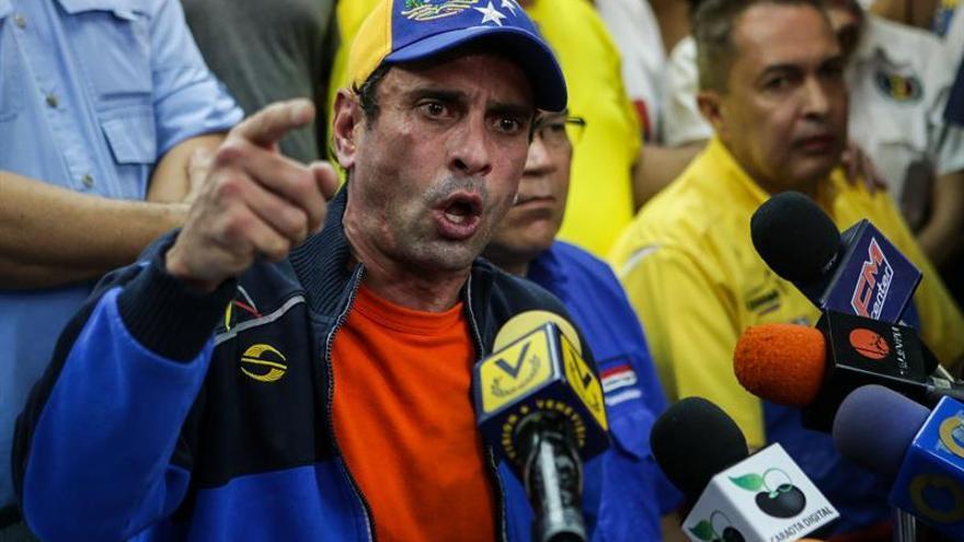 Capriles rechaza la declaración del papa sobre la oposición y dice que no está dividida
