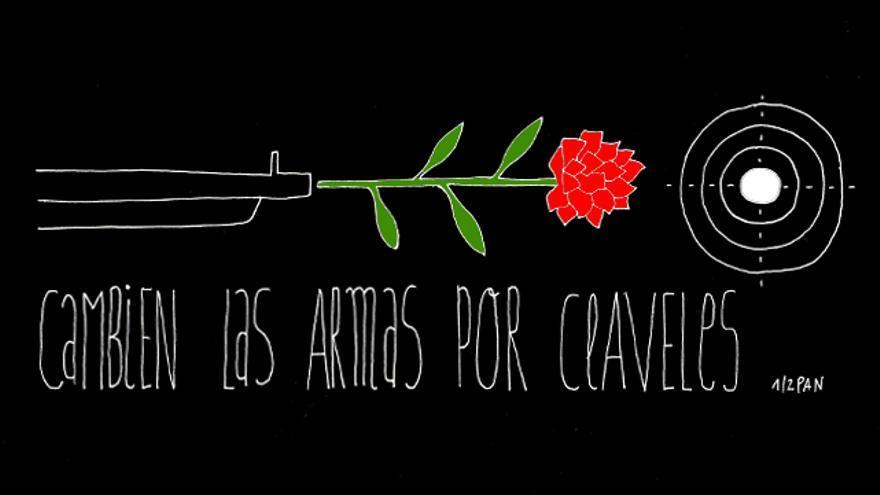 Cambien las armas por claveles