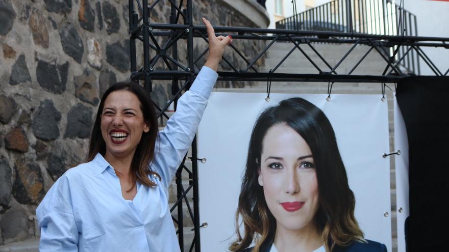 Patricia Hernández, candidata a la Alcaldía de Santa Cruz de Tenerife por el PSOE, durante el arranque de la campaña electoral para las Elecciones del 26M.