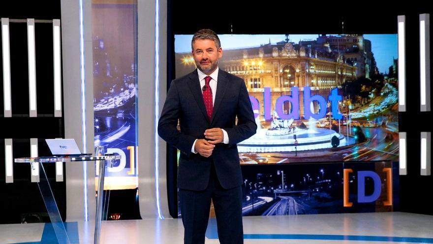 Julio Somoano, en el plató de El debate de La 1