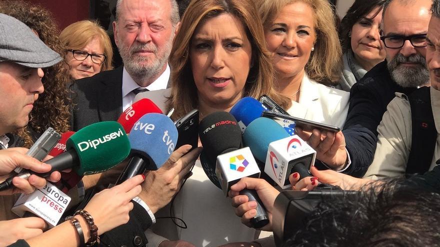 """Susana Díaz: """"que Rajoy se quede con el impuesto de sucesiones porque ya está bien de engañar a los ciudadanos"""""""