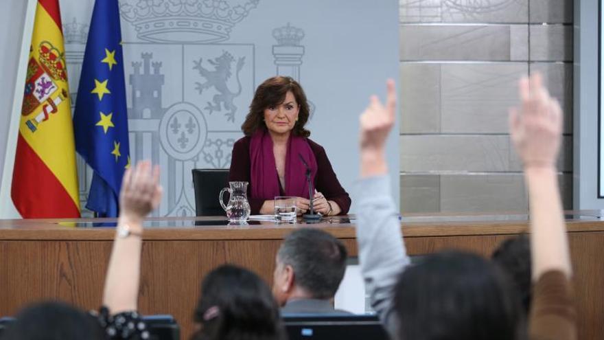 """Calvo comparece en Moncloa tras la polémica por el """"relator"""" en Cataluña"""