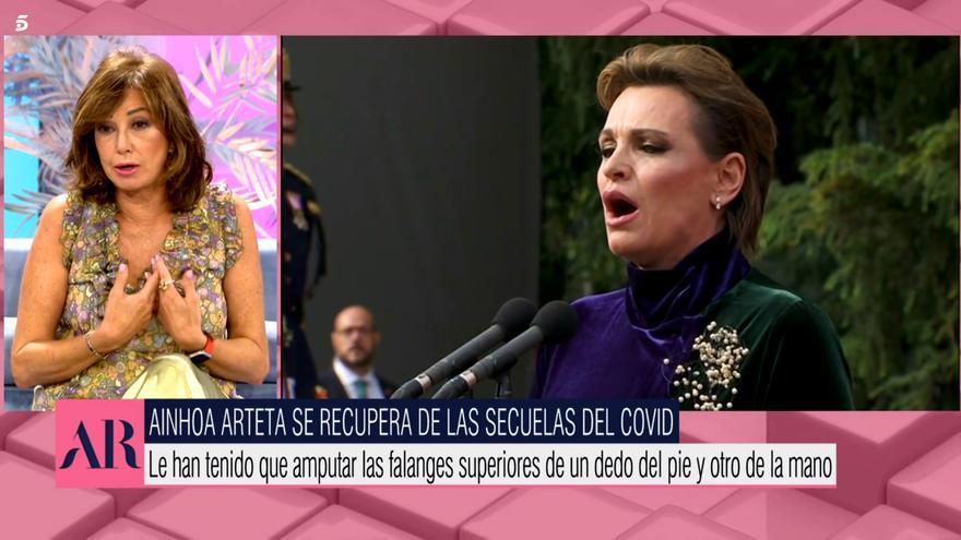 "Ana Rosa Quintana aclara el problema de salud de Ainhoa Arteta: ""No ha sufrido un infarto"""