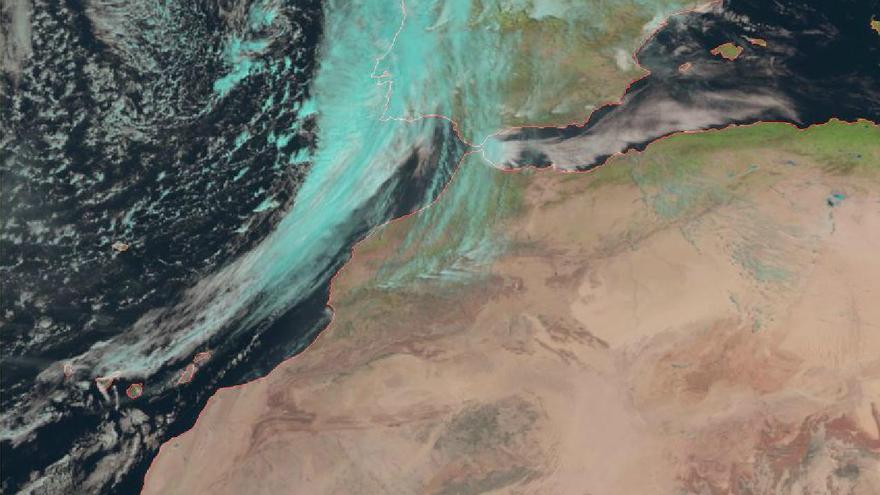 Frente frío entrando por el oeste en Canarias