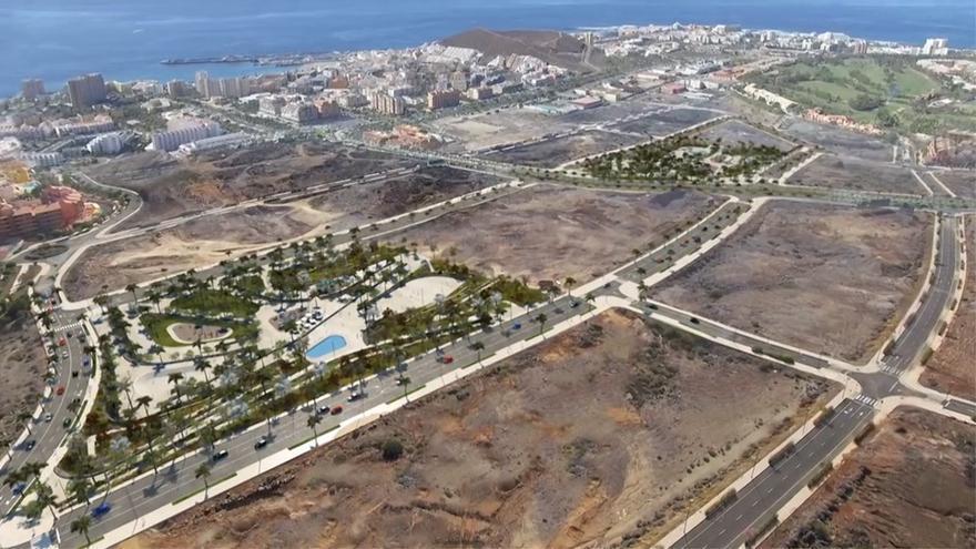 Zona urbanística regulado por el Plan Parcial de El Mojón, en la entrada a Los Cristianos y donde irán los hoteles