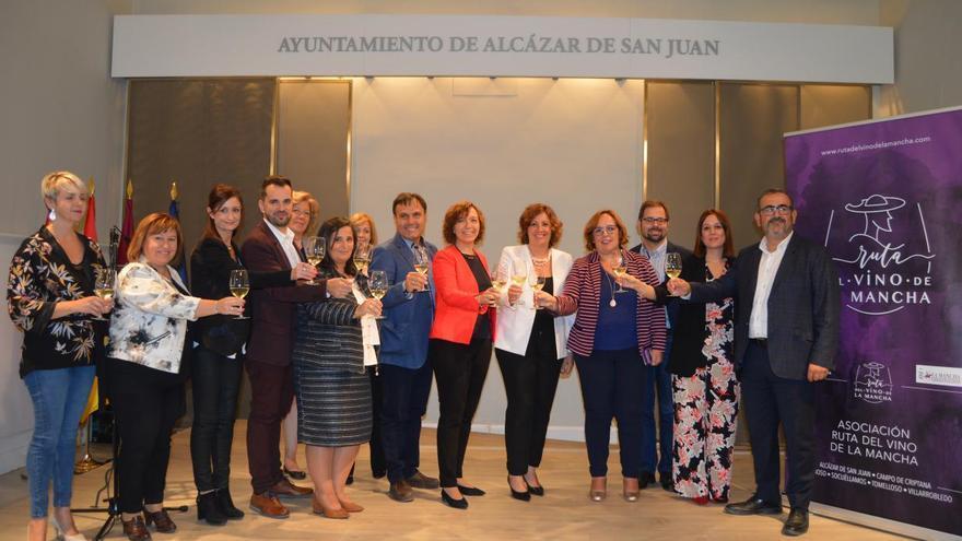 La consejera de Economía, Empresas y Empleo, Patricia Franco, en el marco de la presentación de la Ruta del Vino La Mancha