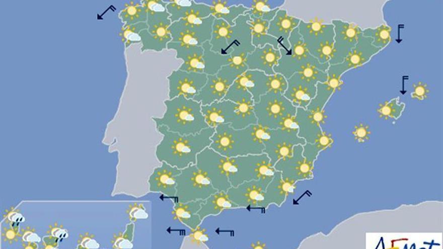 Hoy, suben aún más las temperaturas en buena parte del interior peninsular