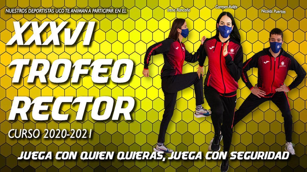 Cartel promocional del Trofeo Rector 2021.