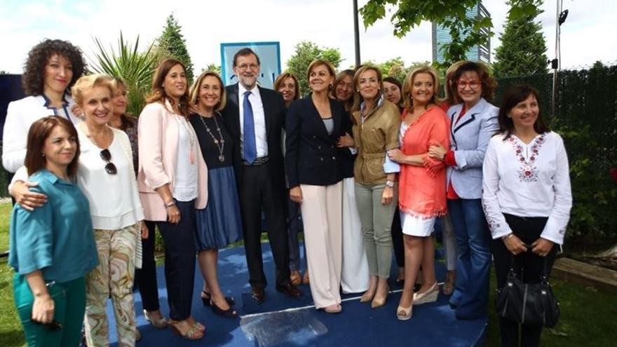 Mariano Rajoy y María Dolores de Cospedal en un acto en Guadalajara / Europa Press