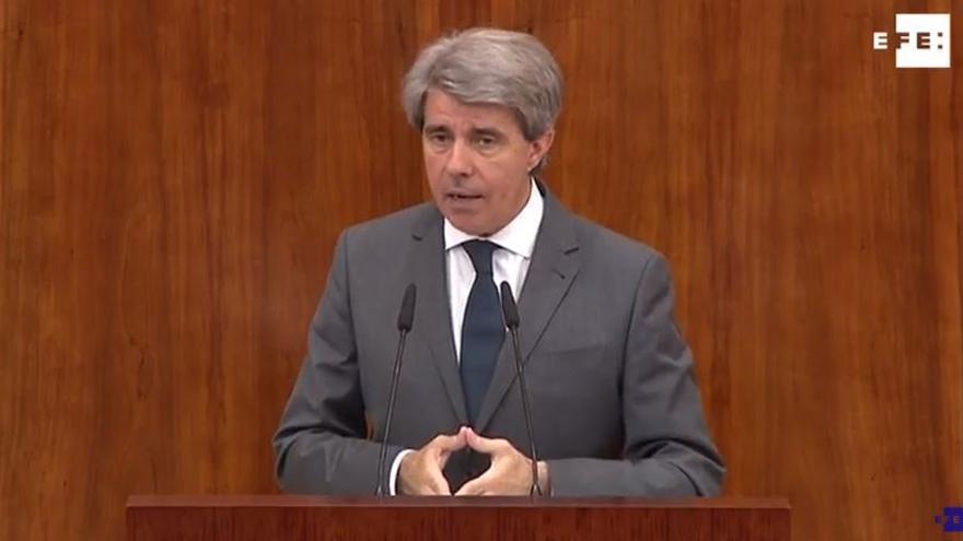 Ángel Garrido durante su intervención.