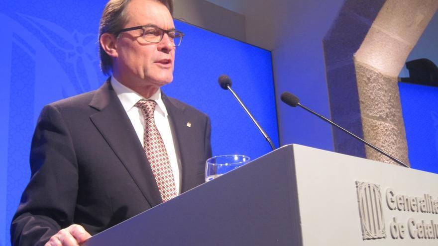 El presidente Artur Mas descarta cambios de Govern y mantiene su confianza en Puig