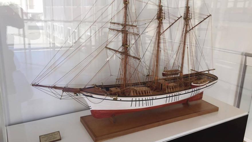 Una maqueta de Joaquín expuesta en la Autoridad Portuaria