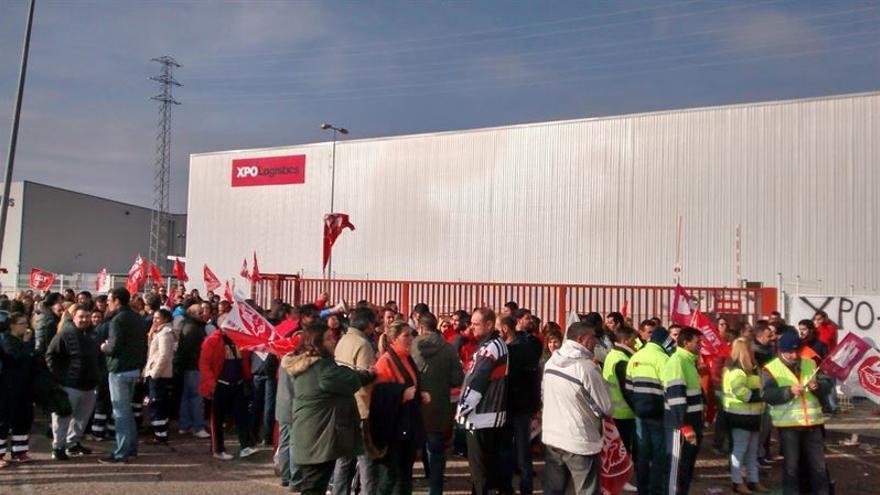 Huelga en el sector logístico de Guadalajara / EUROPA PRESS