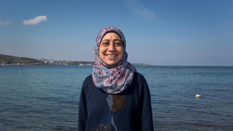 Amal, refugiada siria. Foto: Oxfam Intermón.
