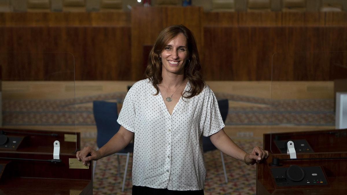 Mónica García, la portavoz de Más Madrid en la Asamblea de Madrid.