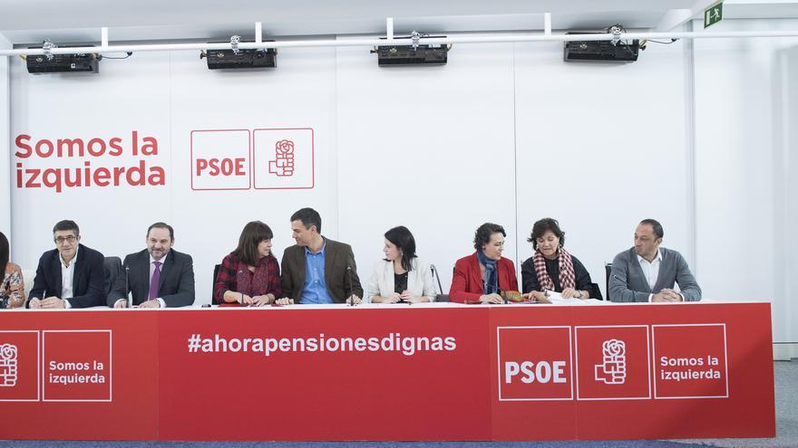 Pedro Sánchez preside la primera reunión de la Ejecutiva de 2018