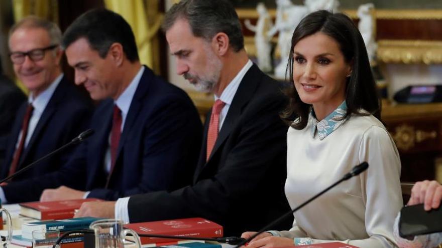 Los reyes Felipe y Letizia presiden hoy en el Palacio de Aranjuez la reunión anual del patronato del Instituto Cervantes.