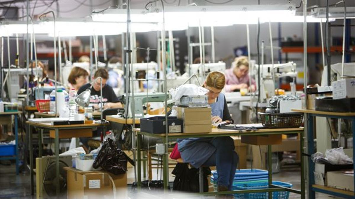 Una fábrica de calzado en Elda (Alicante).