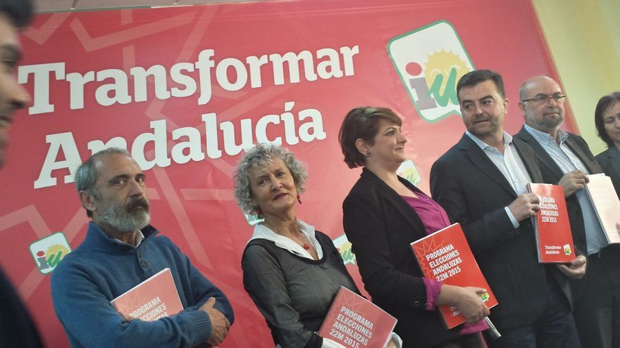 Presentación del programa electoral de IU a las andaluzas del 22M.