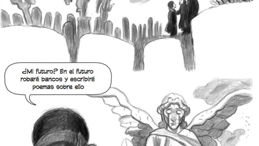 Viñeta de 'El Ángel Dadá'