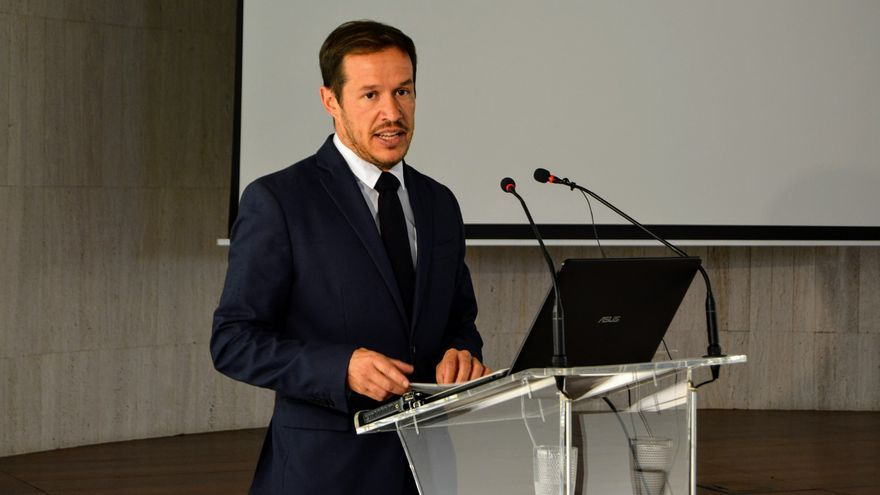 Mariano H. Zapapa en la presentación del Informe sobre el Impacto Socio-Económico del Telescopio de Treinta Metros (TMT) en la Isla.