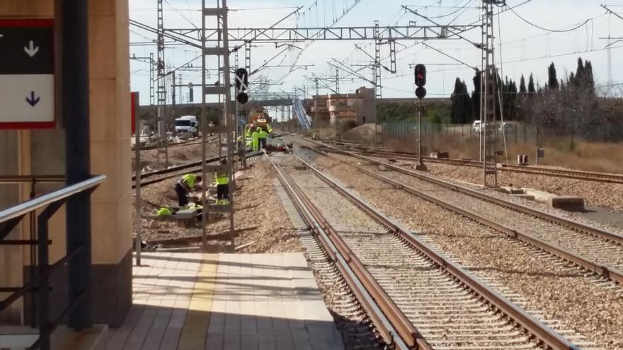 Obras del tercer carril del Corredor Mediterráneo