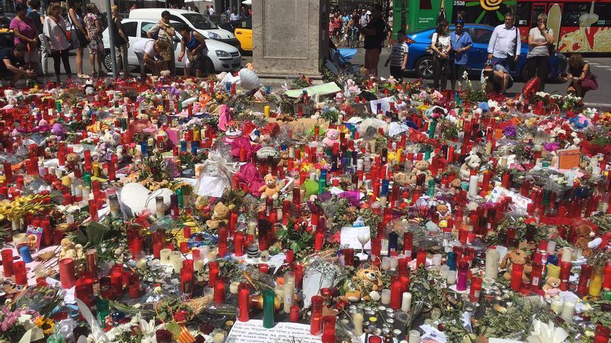 Recuerdo en la Rambla de Barcelona