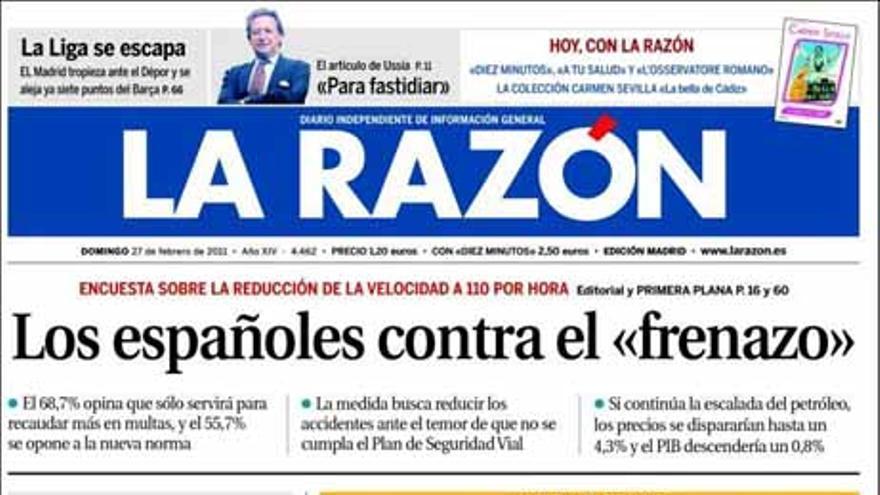 De las portadas del día (27/02/2011) #5