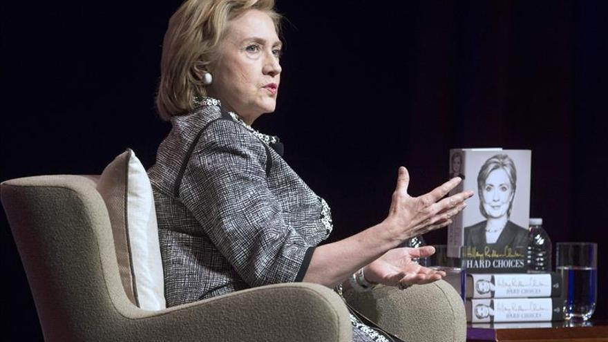 Hillary Clinton en la presentación de su libro sobre la campaña en 2013.