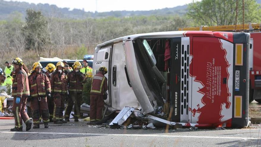 Conductor autobús accidentado en Freginals no estuvo con compañeros Valencia