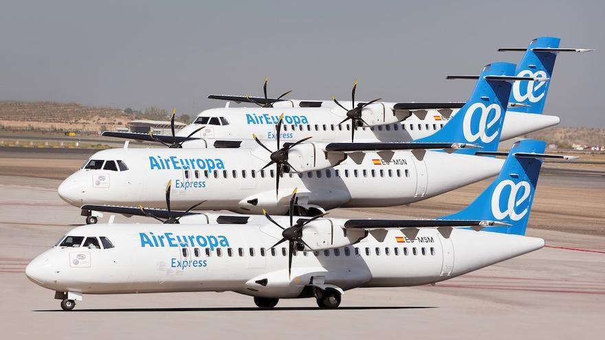 Los aviones con los que Air Europa inicia el lunes los vuelos entre islas aterrizan este fin de semana en Gran Canaria.