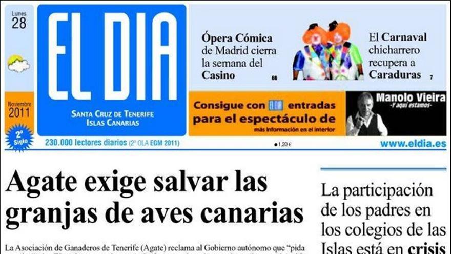 De las portadas del día (28/11/2011) #3