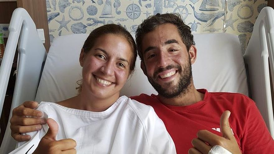 Los españoles rescatados del mar reciben el alta médica en Malasia