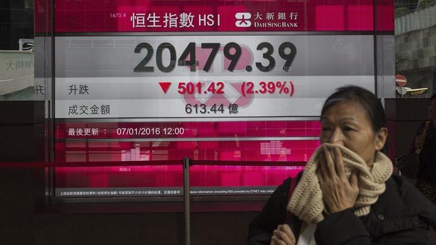 Hong Kong gana un 0,65 por ciento a media sesión