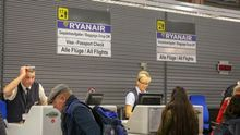 Imagen de archivo de trabajadores de Ryanair.