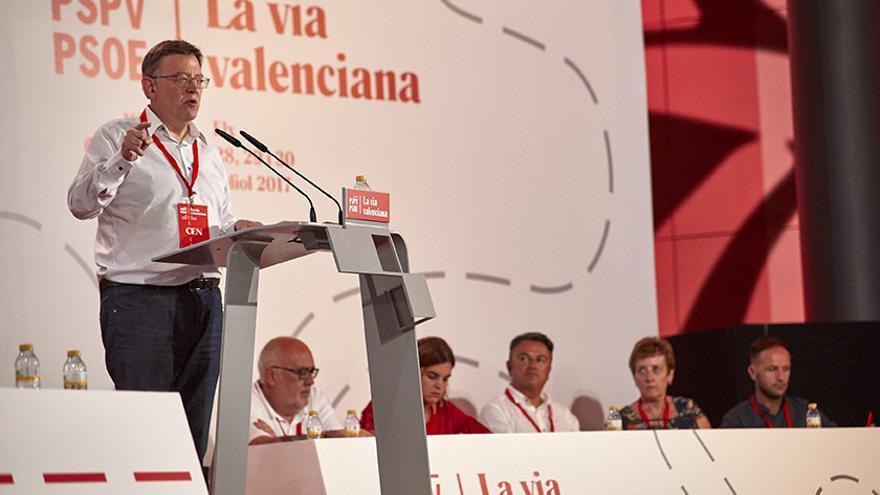 Ximo Puig interviene en el XIII Congreso Nacional del PSPV en Elche