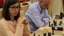 Inés Prado, durante una competición