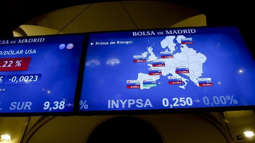 La prima de riesgo baja a 139 puntos por la caída del bono español
