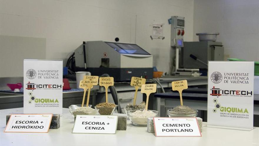 Crean un nuevo tipo de cemento a partir de ceniza de hueso de oliva y escoria
