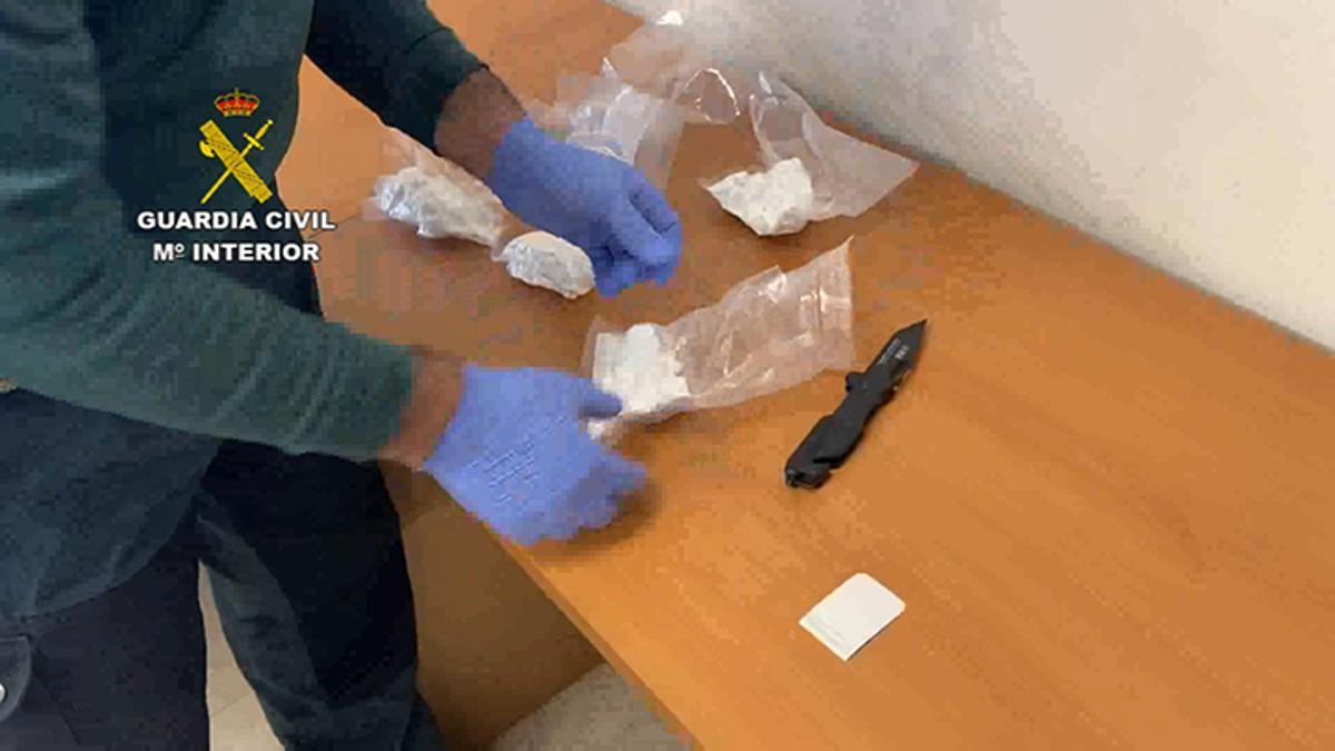 Cocaína incautada en Montoro