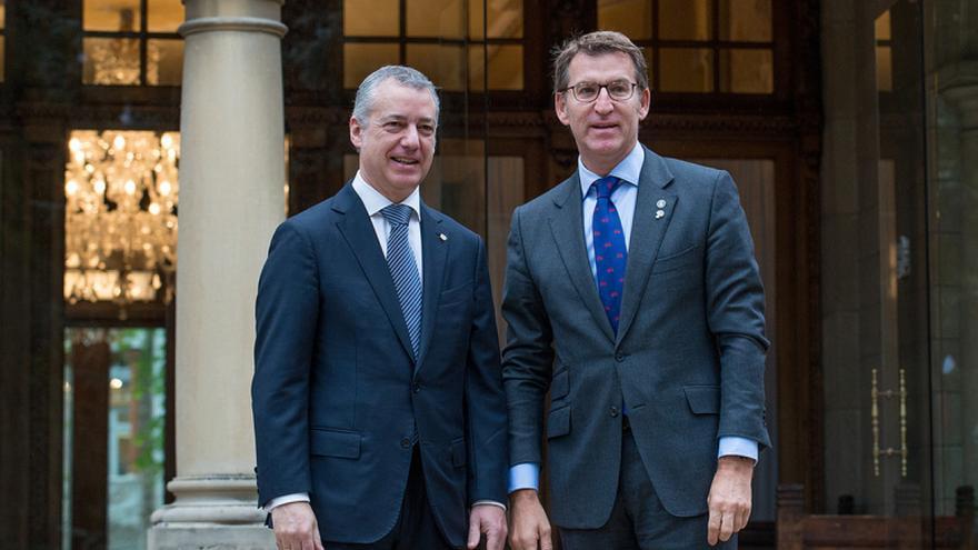 Urkullu y Feijóo, en una reunión en Vitoria el pasado abril