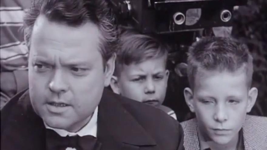 Orson Welles y Chris Wertenbaker, durante el rodaje.