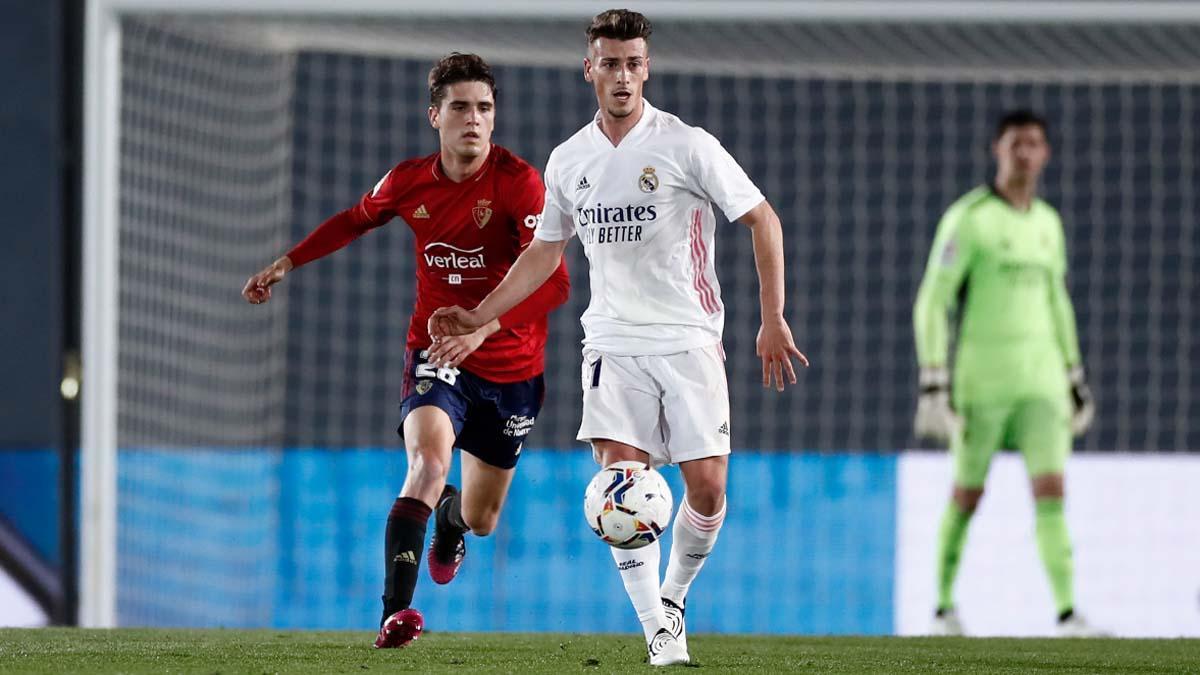 Antonio Blanco, en un partido con el Real Madrid