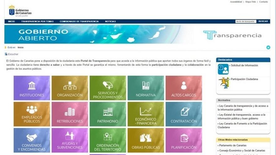 Portal de Transparencia del Gobierno canario