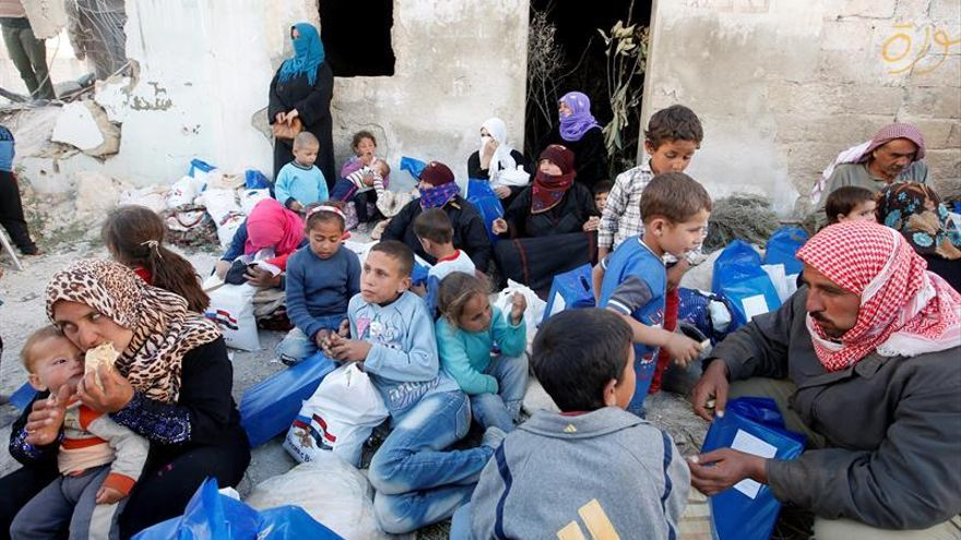 1.200 personas huyen de una zona controlada por el EI en provincia siria de Hama