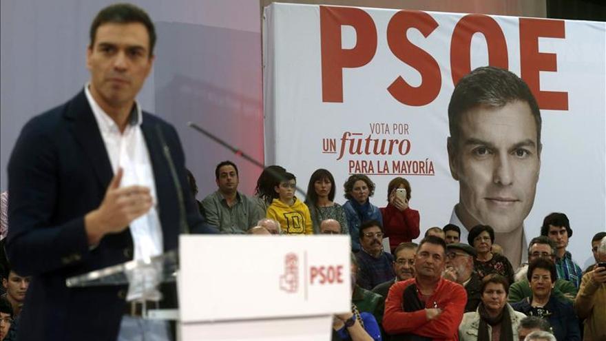 Sánchez, durante un mitin en Gijón este jueves